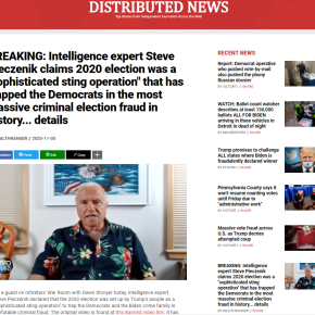 "BREAKING: Intelligence expert Steve Pieczenik claims 2020 election was a ""sophisticated sting operation"" that has trapped the Democrats in the most massive criminal election fraud in history… details"